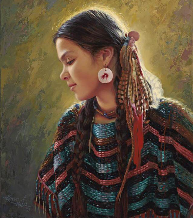 girl oil paintings