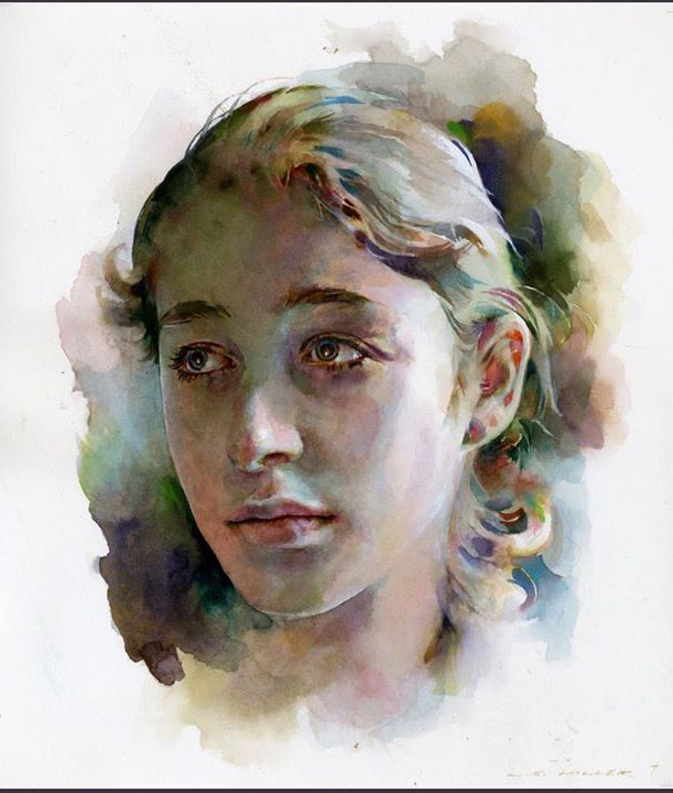 girl watercolor paintings