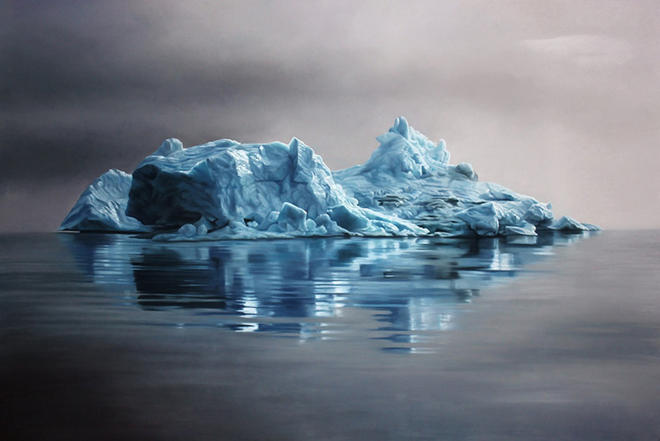 icebergs pastel paintings
