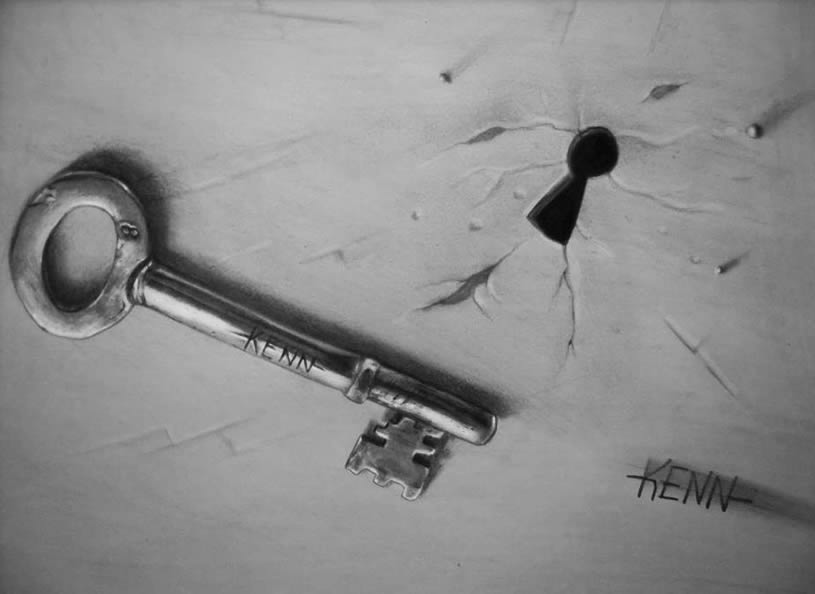 key 3d drawings by techblogstop