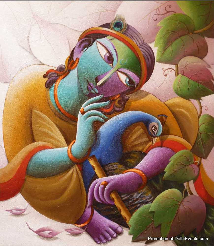 krishna paintings by dhananjay