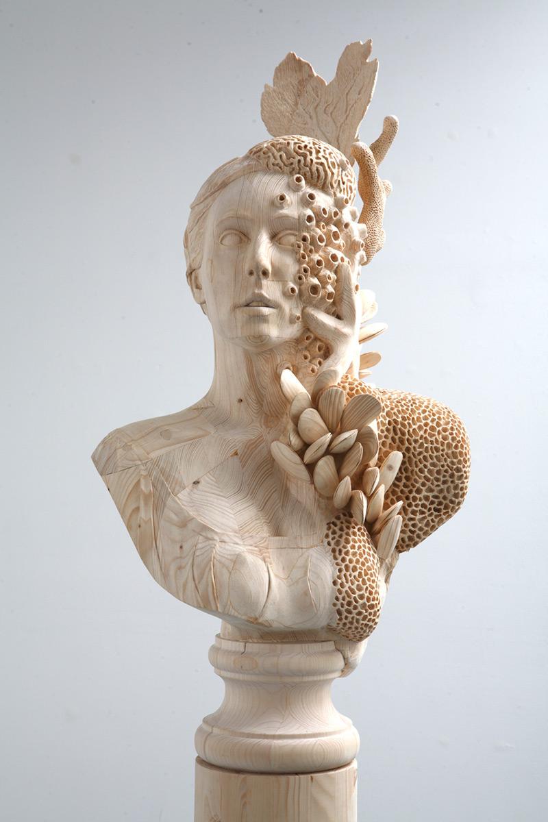 beautiful wood sculpture