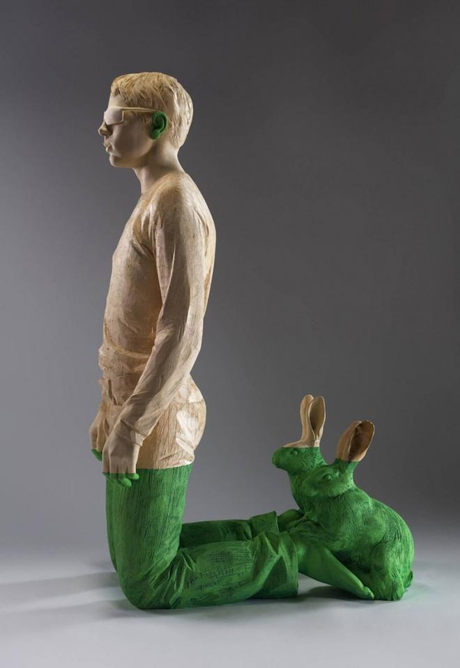 man wood sculptures by willy verginer