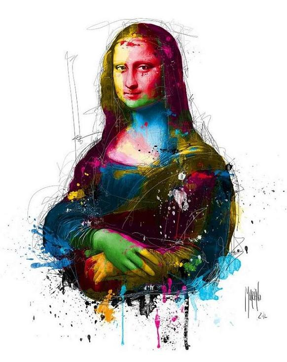 mona lisa acrylic paintings by patrice