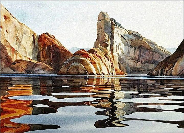 mountain watercolor paintings