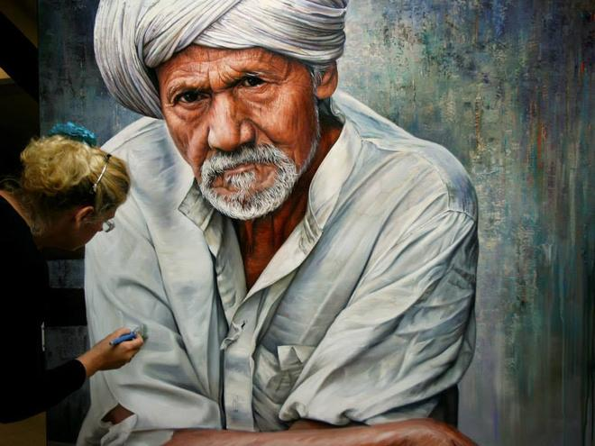 old man paintings by christiane