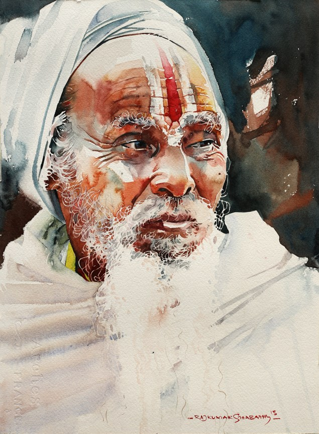 oldman watercolor