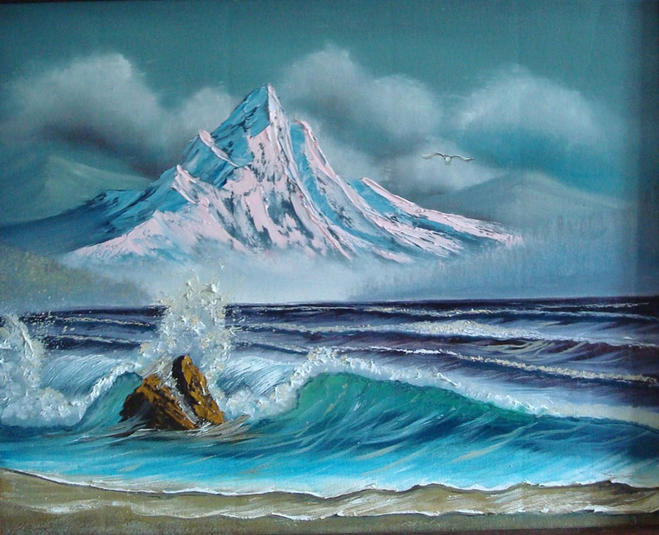 sea oil paintings by bob