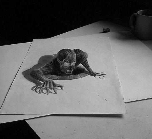 skull 3d drawings
