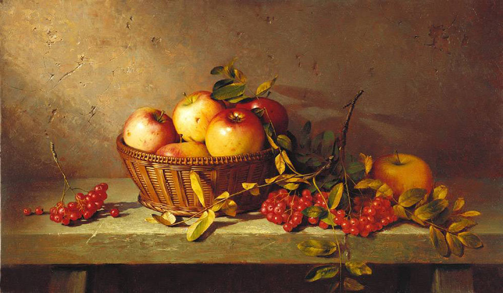 apples still life paintings -  1