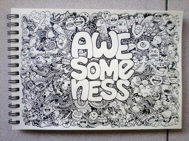 awesomeness doodles by kerbyrosanes -  1