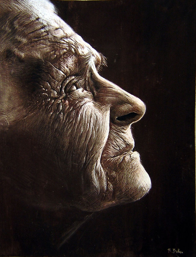pastel painting by ruben belloso -  1