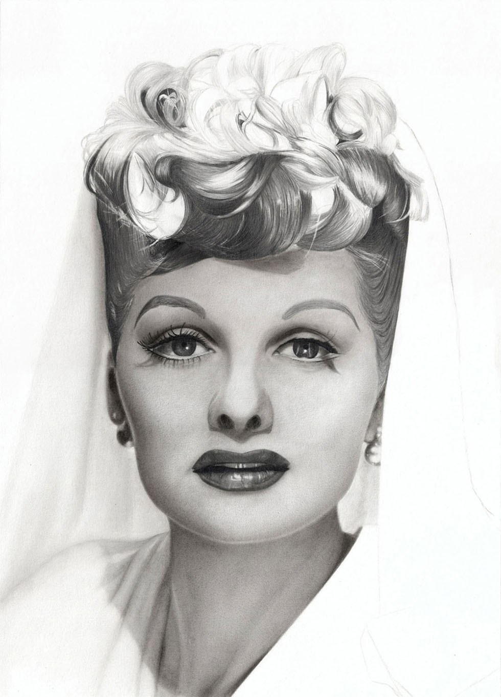 queen charcoal drawings -  1
