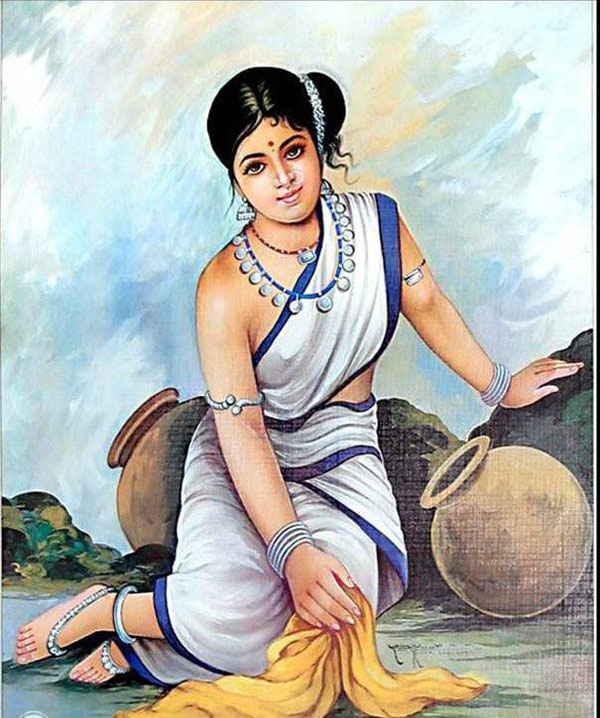 beautiful lady indian paintings
