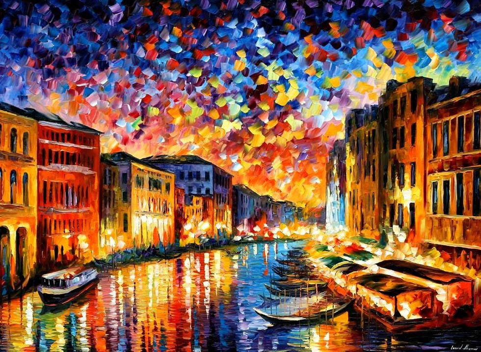 colourful painting by leonid afremov -  10