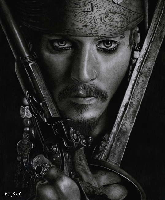 jack sparrow pencil drawings -  10