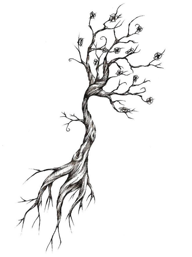 tree drawing tattoo