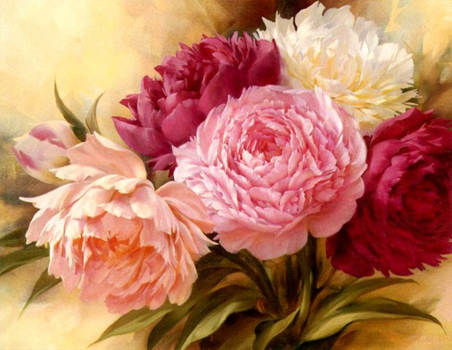 11 colourful flower paintings