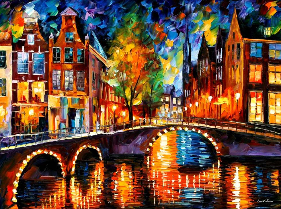colourful painting by leonid afremov -  11