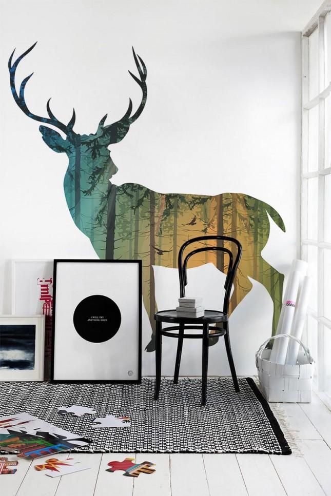 11 deer wall art
