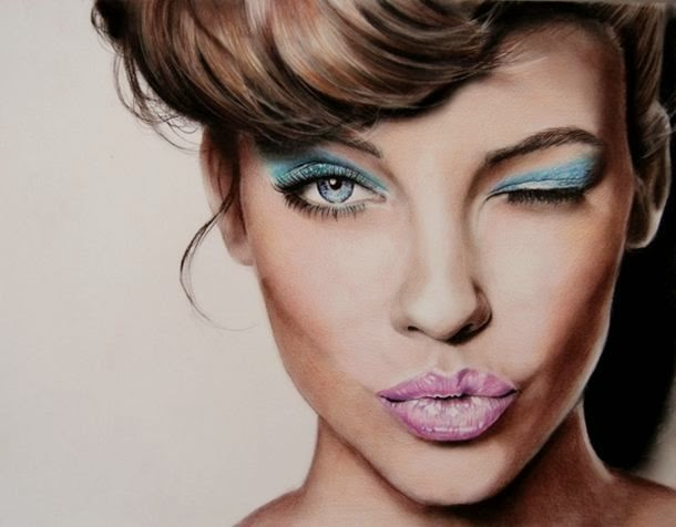 girl color pencil drawing -  11