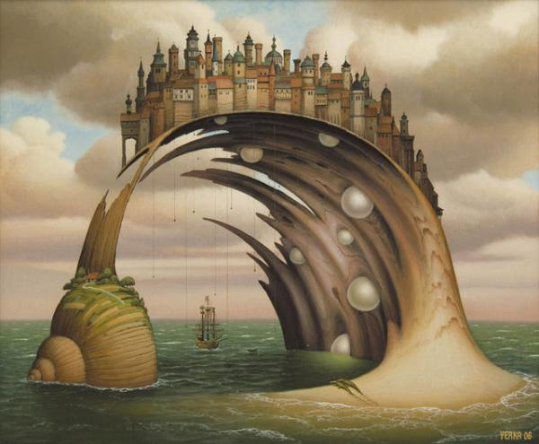 palace surreal paintings by jacek yerka