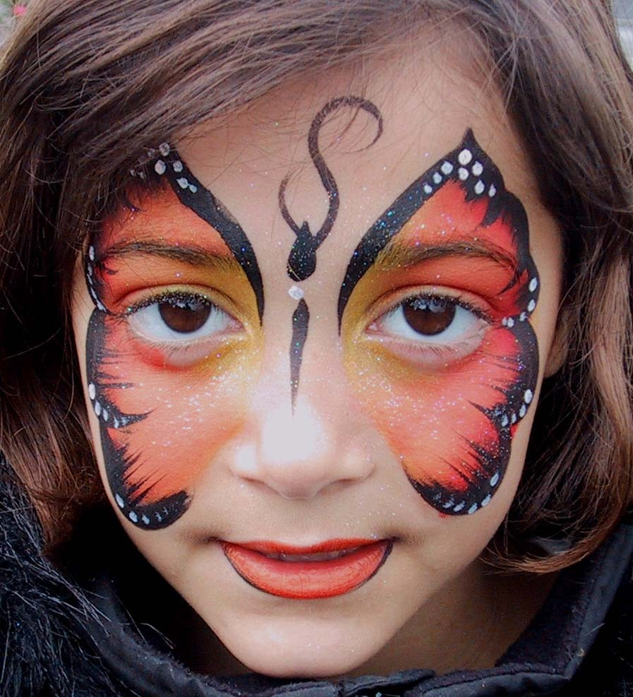 butterfly face paintings