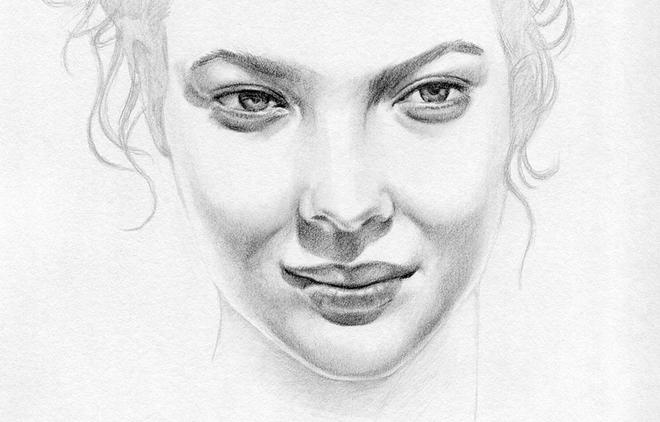 girl face drawings -  12