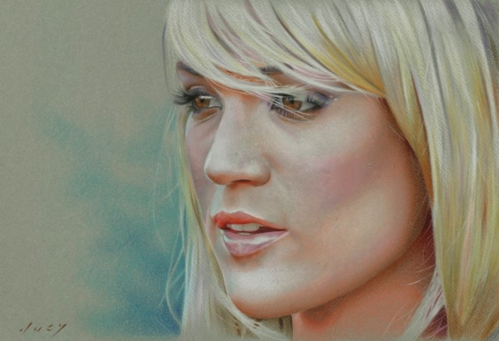 carrie underwood color pencil drawing -  13