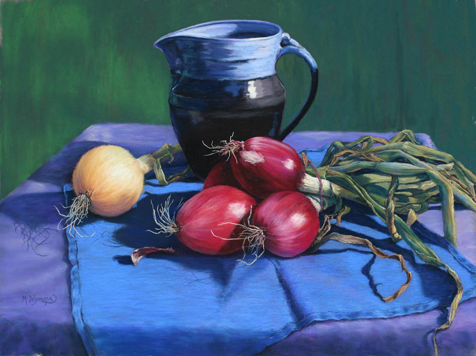 pastel painting by mally de somma