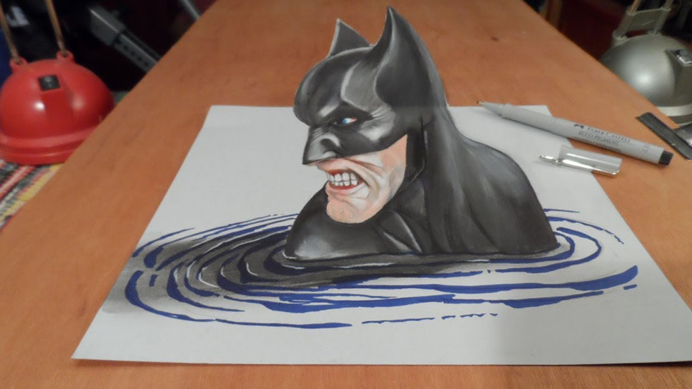 superhero 3d drawings -  13