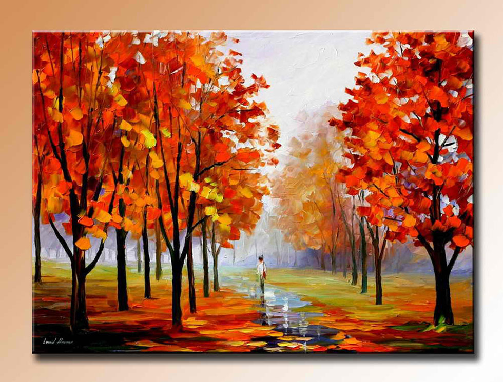 paintings of trees in autumn - photo #21