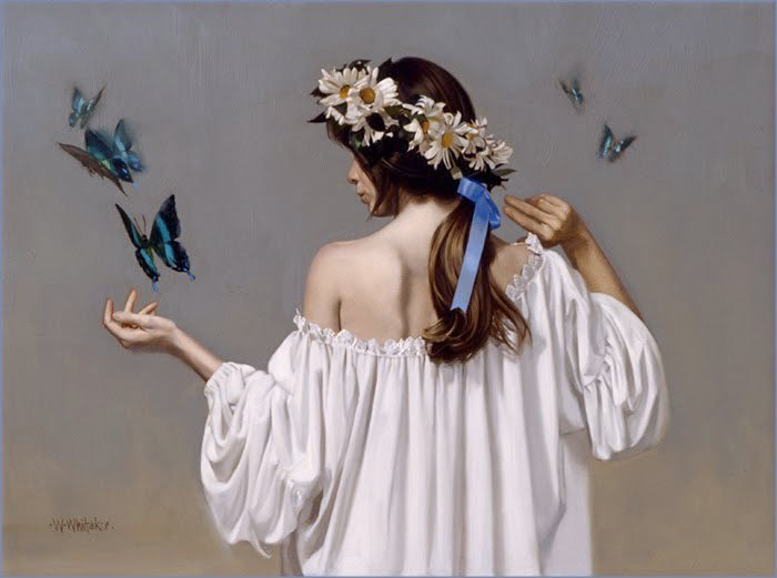 15 butterfly oil painting