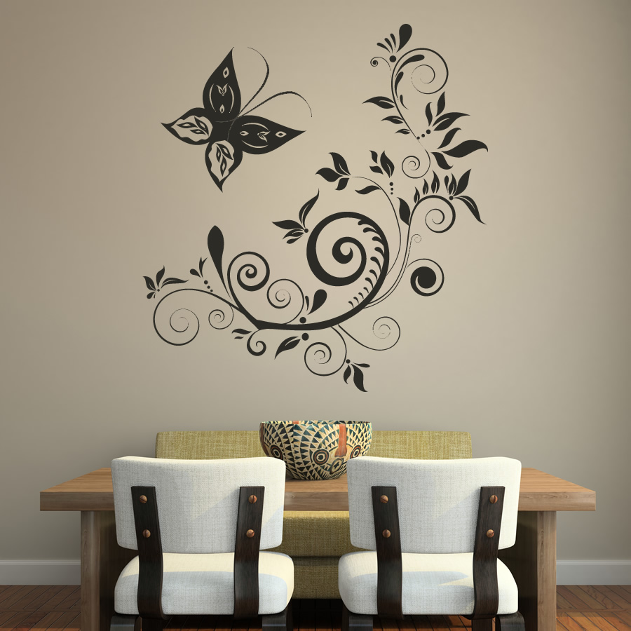 wall paintings design. Butterfly wall art  15 25 Beautiful Wall Art works from top artists around the world