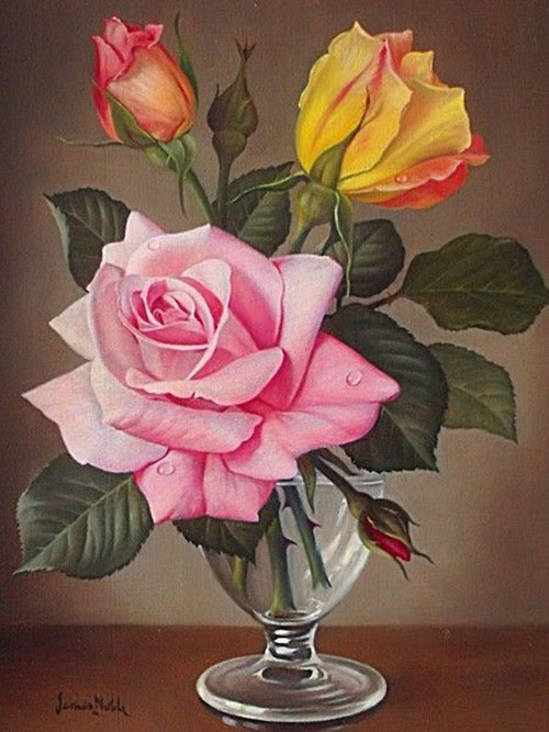 flower painting by james noble -  15