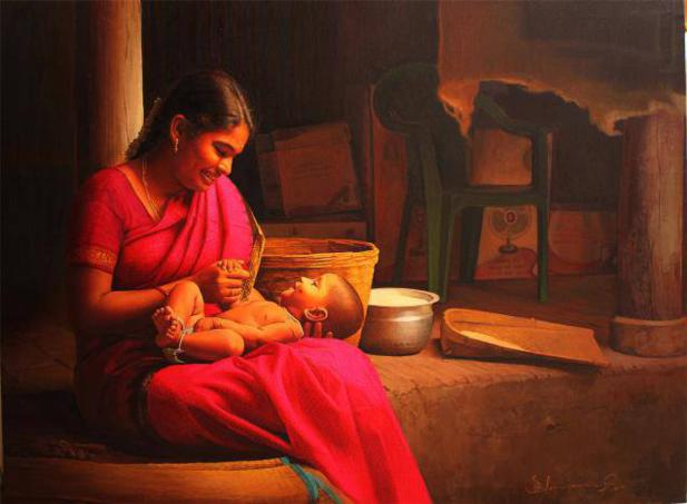 mother indian paintings by ilayaraja -  15