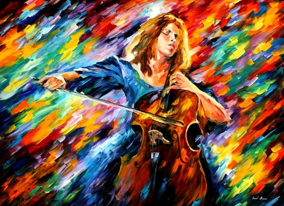 musician colorful paintings