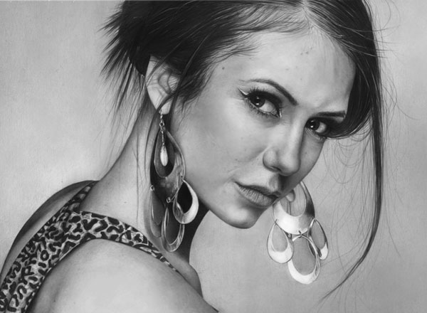 nina dobrev face drawings -  15