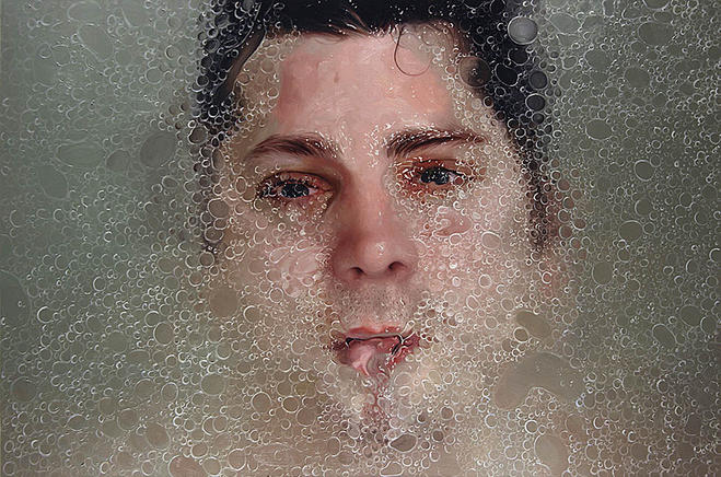 wet man hyper realistic oil paintings -  15