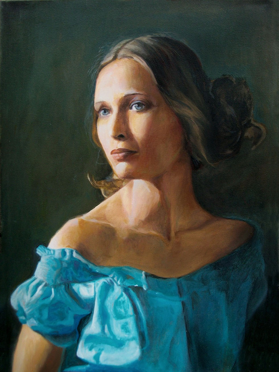 beautiful lady potrait paintings