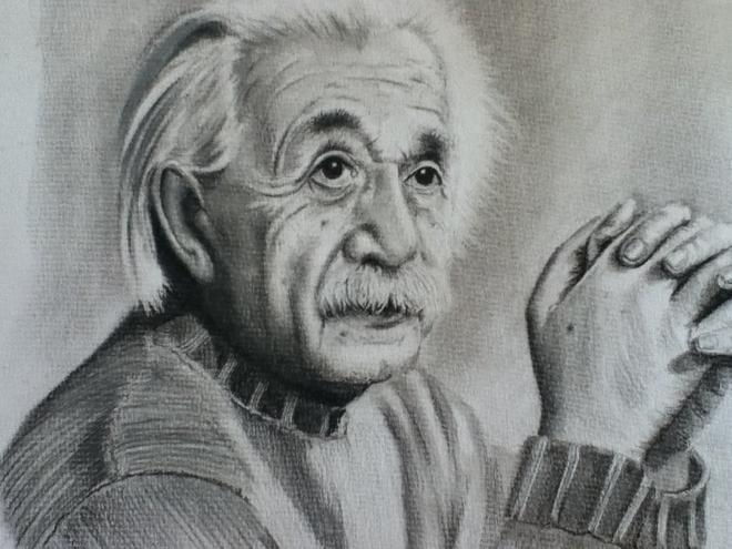 einstein charcoal drawings by donnabe -  17