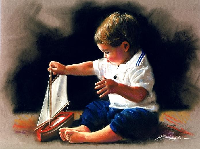 pastel painting by mark sanislo