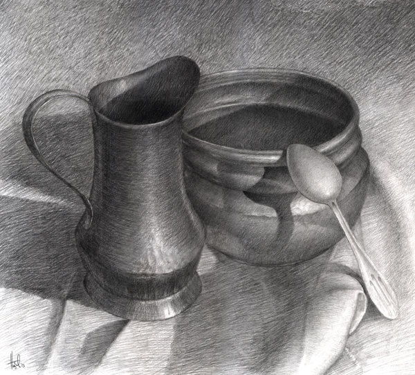 Pencil Drawing Still Life 25 Beautiful And Realistic