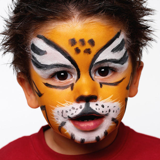 Easy tiger face paint - photo#25