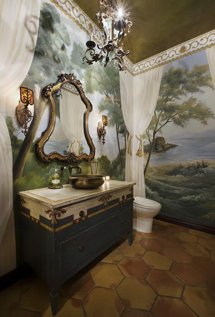 bathroom wall mural