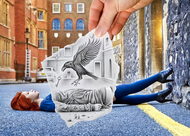 creative drawings by ben heine -  18