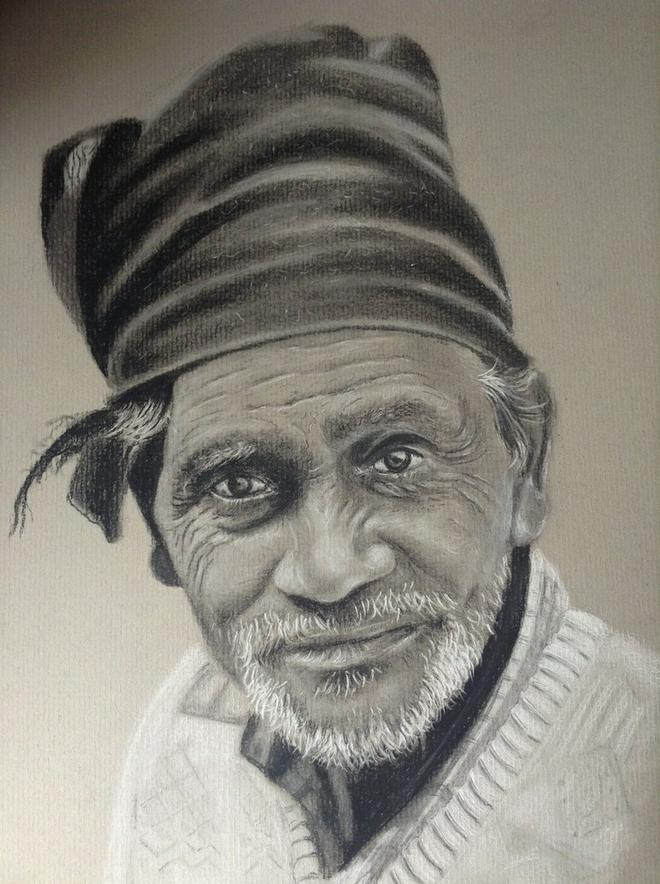 man charcoal drawings by donnabe -  18