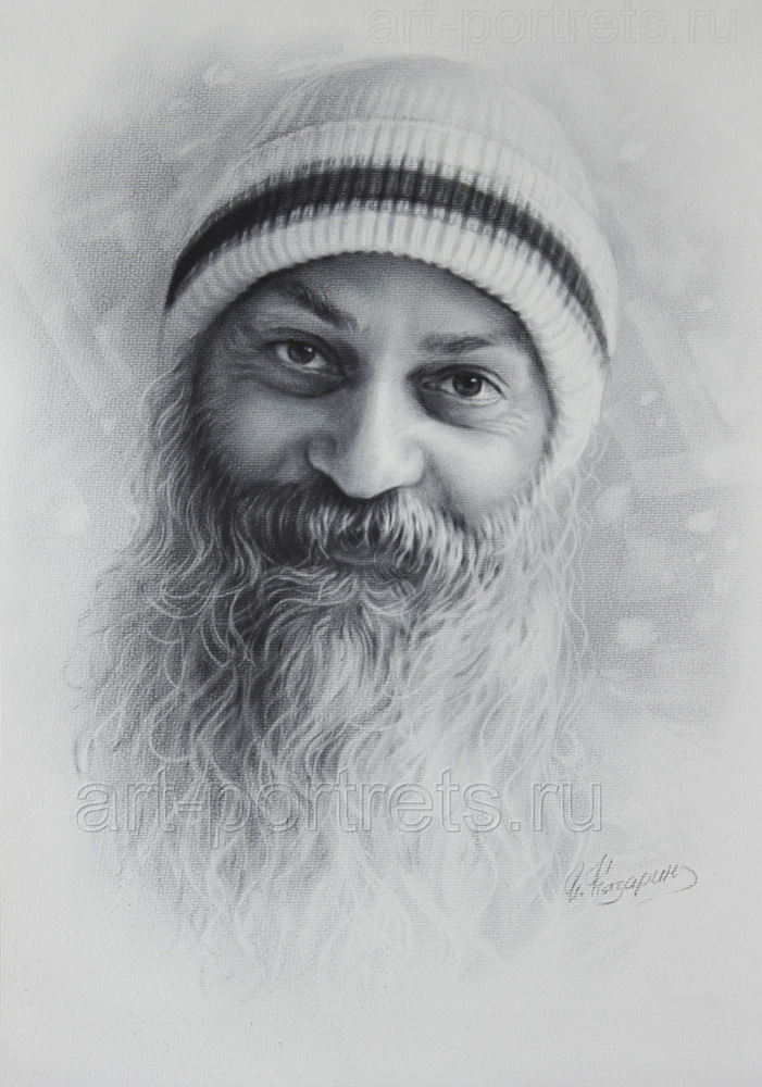 osho potrait drawings -  18