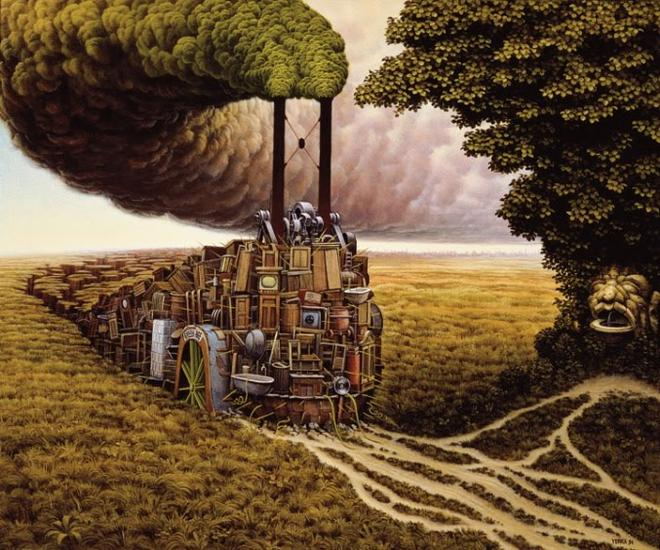 surreal painting by jacek yerka -  18