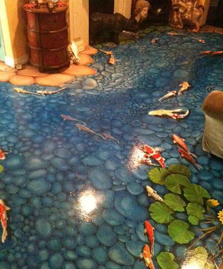 floor mural painting